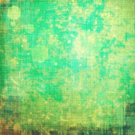 oldschool: Grunge old-school texture, background for design. With different color patterns: green; brown; cyan; yellow (beige) Stock Photo