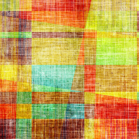 Grunge texture, distressed background. With different color patterns: green; brown; blue; red (orange); yellow (beige)