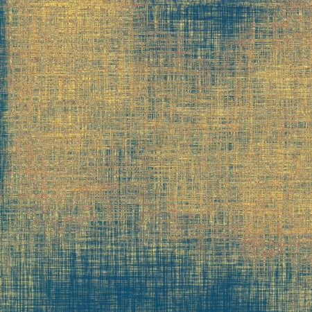 oldschool: Grunge old-school texture, background for design. With different color patterns: gray; blue; yellow (beige); brown Stock Photo