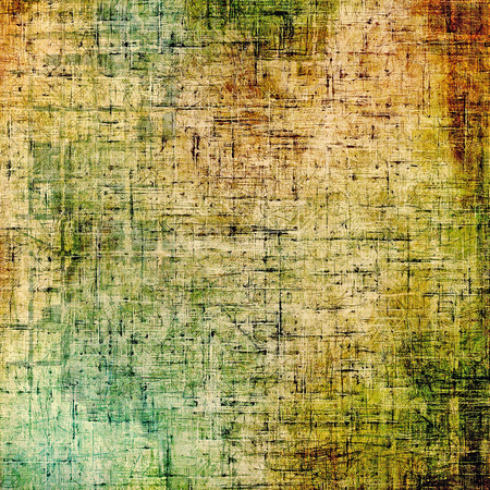 Vintage textured background. With different color patterns: cyan; yellow (beige); brown; green photo