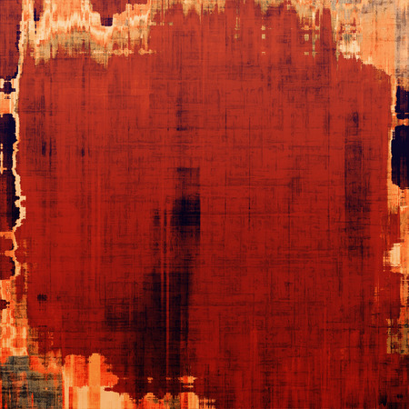 Weathered and distressed grunge background with different color patterns: yellow (beige); brown; red (orange) photo