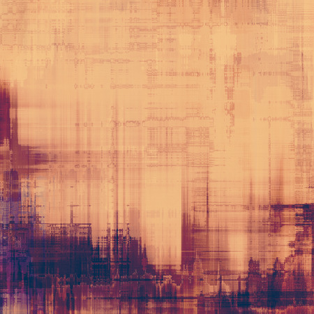 Old grunge textured background. With different color patterns: purple (violet); yellow (beige); brown photo