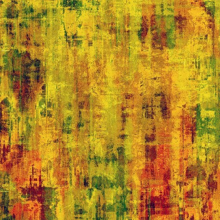 Grunge colorful background or old texture for creative design work. With different color patterns: red (orange); yellow (beige); brown; green photo