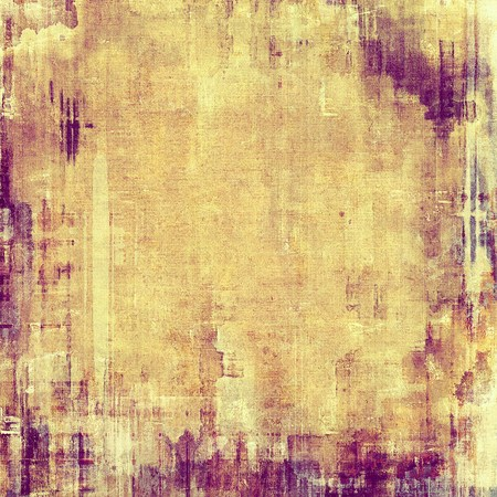 oldfield: Abstract old background with rough grunge texture. With different color patterns: yellow (beige); brown; purple (violet) Stock Photo