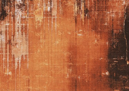 grime: Old background with delicate abstract texture. With different color patterns: yellow (beige); brown; black; red (orange)
