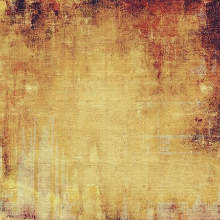 Textured old pattern as background. With different color patterns: yellow (beige); brown; red (orange) photo
