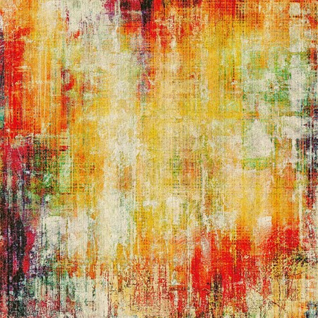 threadbare: Dirty and weathered old textured background. With different color patterns: yellow (beige); green; red (orange)