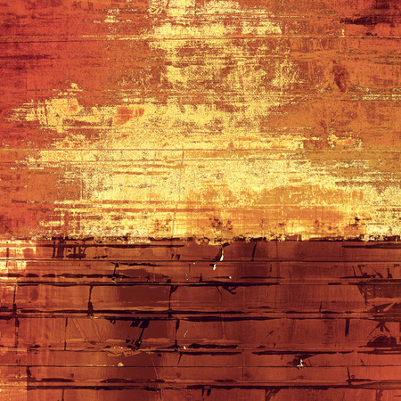 grooves: Old designed texture as abstract grunge background. With different color patterns: yellow (beige); brown; red (orange)