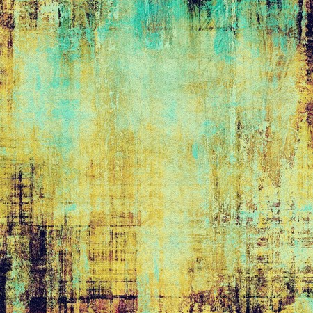 oldschool: Grunge old-school texture, background for design. With different color patterns: yellow (beige); brown; blue; cyan