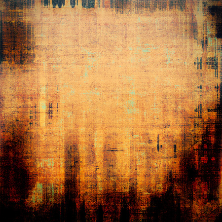 Antique vintage textured background. With different color patterns: yellow (beige); brown; red (orange); black photo