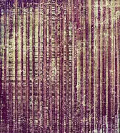grime: Grunge stained texture, distressed background with space for text or image. With different color patterns: yellow (beige); brown; gray; purple (violet) Stock Photo