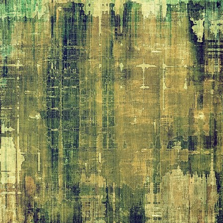 oldschool: Grunge old-school texture, background for design. With different color patterns: gray; brown; yellow (beige); green