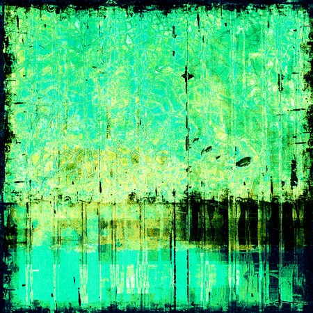 grime: Grunge old texture as abstract background. With different color patterns: yellow (beige); blue; green; cyan Stock Photo
