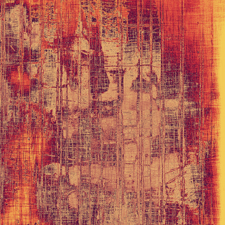 Old abstract grunge background for creative designed textures. With different color patterns: yellow (beige); brown; purple (violet); red (orange) photo
