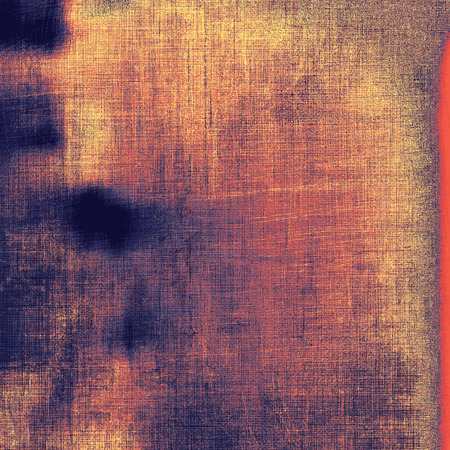 oldfield: Grunge texture, distressed background. With different color patterns: brown; blue; purple (violet); red (orange) Stock Photo