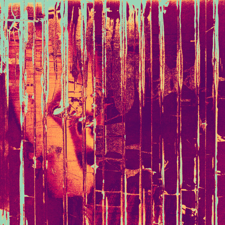 violet red: Grunge texture, distressed background. With different color patterns: cyan; purple (violet); red (orange); pink Stock Photo