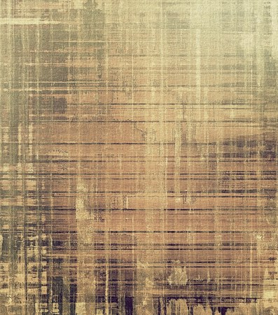scrapbook homemade: Colorful vintage texture. With different color patterns: yellow (beige); brown; gray Stock Photo