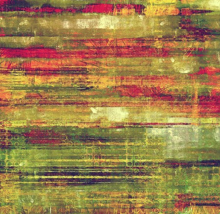 old fashioned sepia: Old abstract grunge background for creative designed textures. With different color patterns: brown; green; red (orange); pink