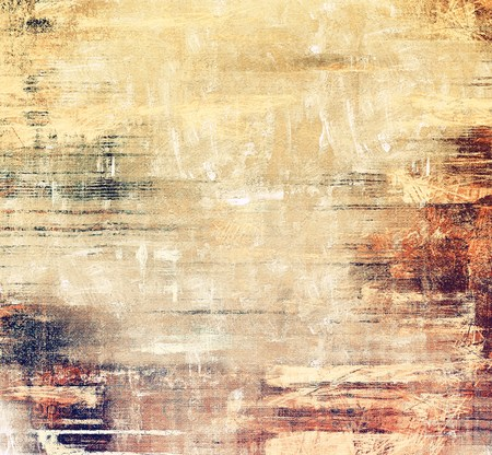 Old texture with delicate abstract pattern as grunge background. With different color patterns: yellow (beige); brown; gray