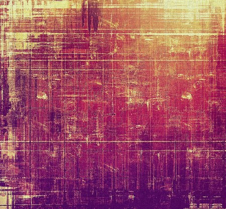 Art grunge vintage textured background. With different color patterns: yellow (beige); red (orange); purple (violet); pink Stock Photo