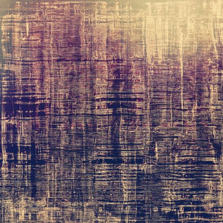 threadbare: Antique vintage textured background. With different color patterns: brown; gray; purple (violet); blue Stock Photo