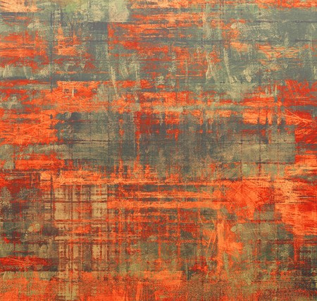 Old designed texture as abstract grunge background. With different color patterns: brown; gray; red (orange) photo
