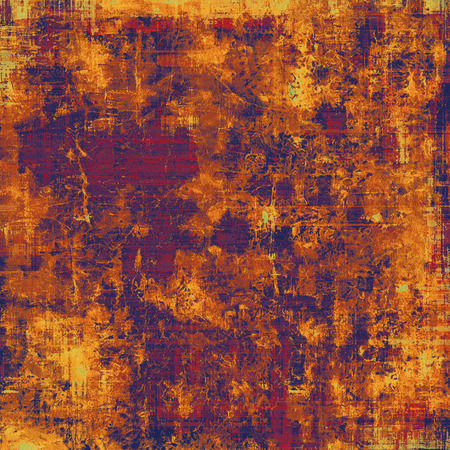 violet red: Aging grunge texture, old illustration. With different color patterns: yellow (beige); brown; purple (violet); red (orange)