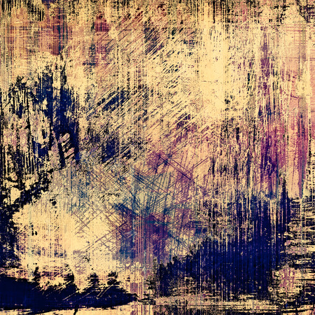 oldest: Grunge stained texture, distressed background with space for text or image. With different color patterns: yellow (beige); brown; blue; purple (violet)