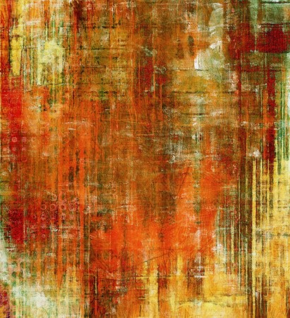 Old, grunge background texture. With different color patterns: yellow (beige); brown; red (orange); green