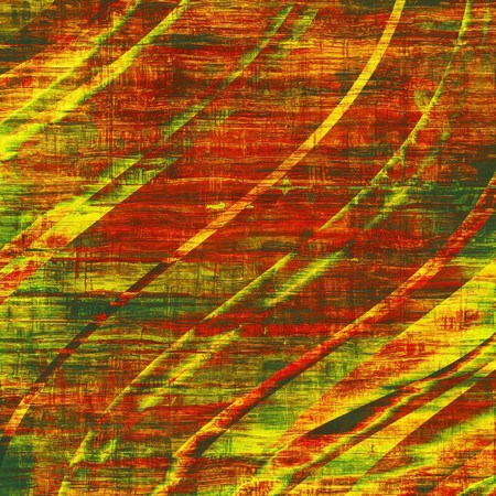 fabulous burnt orange color weathered and distressed grunge background with different color patterns yellow