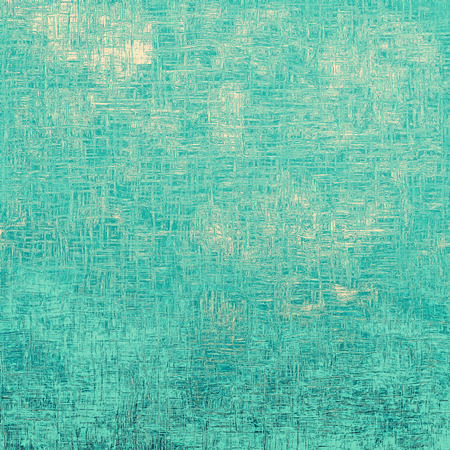 Designed grunge texture or retro background. With different color patterns: yellow (beige); blue; cyan Stock Photo