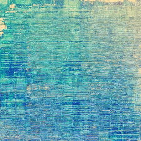 grained: Dirty and weathered old textured background. With different color patterns: yellow (beige); blue; cyan Stock Photo