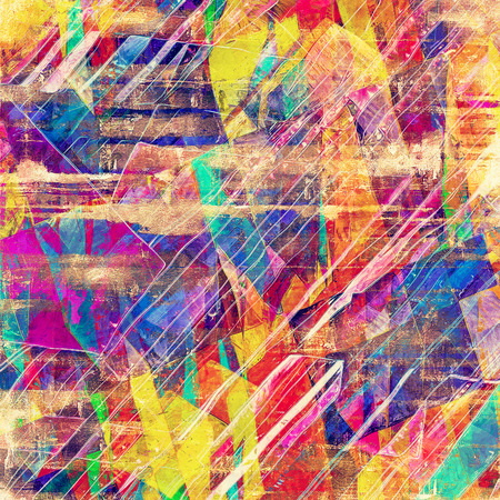 grime: Retro background with old grunge texture. With different color patterns: yellow (beige); blue; red (orange); purple (violet)