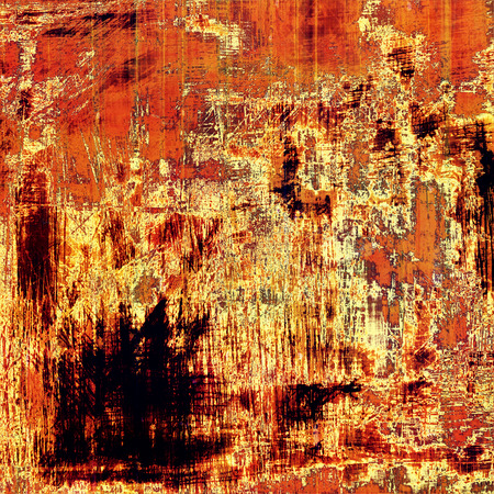 Old-style background, aging texture. With different color patterns: yellow (beige); brown; black; red (orange)