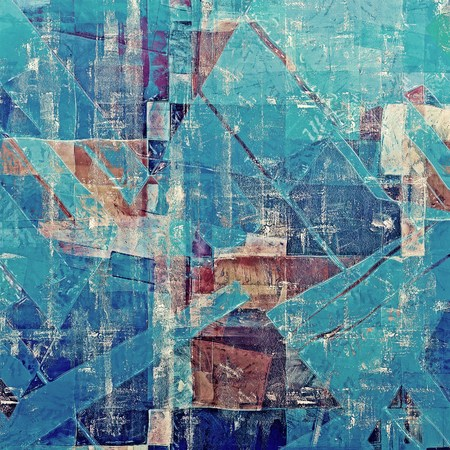 Abstract rough grunge background, colorful texture. With different color patterns: brown; gray; blue; cyan Stock Photo