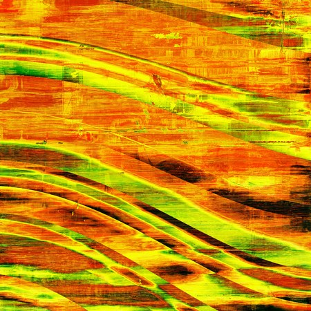 yellow orange: Vintage texture for background. With different color patterns: yellow (beige); brown; red (orange); green