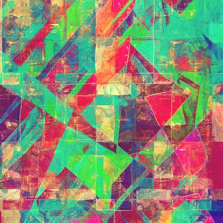 grime: Vintage textured background. With different color patterns: green; red (orange); blue; purple (violet); pink