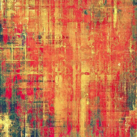 threadbare: Grunge texture. With different color patterns: yellow (beige); pink; green; red (orange) Stock Photo
