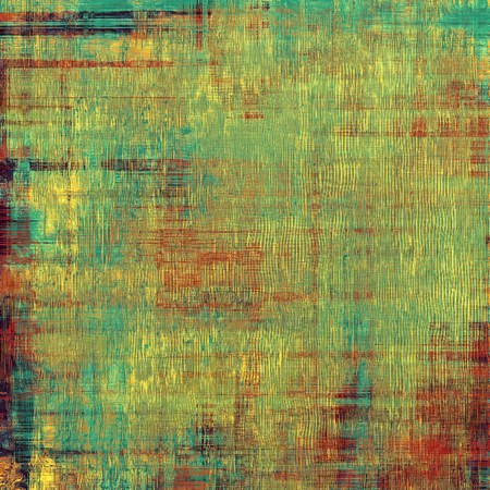 worn structure: Retro background with grunge texture. With different color patterns: yellow (beige); red (orange); blue; green Stock Photo