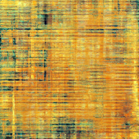 threadbare: Grunge aging texture, art background. With different color patterns: yellow (beige); brown; blue; green Stock Photo