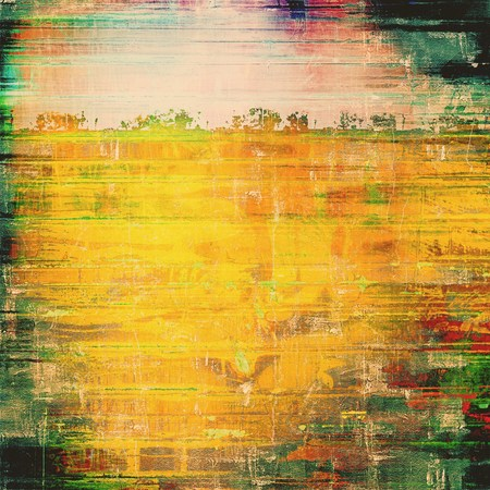 oldschool: Grunge old-school texture, background for design. With different color patterns: yellow (beige); brown; green; red (orange)