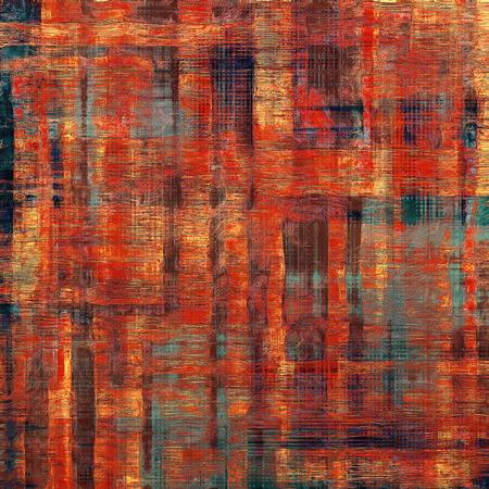 creased: Vintage spotted textured background. With different color patterns: yellow (beige); brown; blue; red (orange)