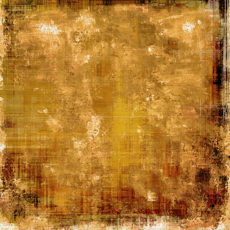 creased: Art grunge vintage textured background. With different color patterns: yellow (beige); brown; gray; black