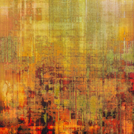 creased: Abstract old background with rough grunge texture. With different color patterns: yellow (beige); brown; green; red (orange) Stock Photo