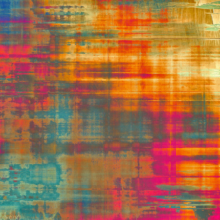 oldfield: Aging grunge texture, old illustration. With different color patterns: yellow (beige); pink; blue; red (orange)