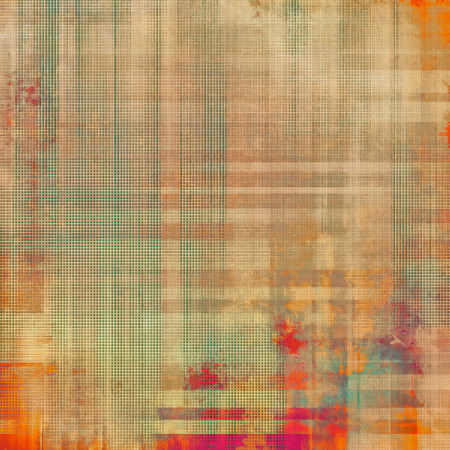 Vintage textured background. With different color patterns: yellow (beige); brown; green; red (orange) Stock Photo