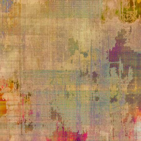 Old ancient texture, may be used as abstract grunge background. With different color patterns: yellow (beige); brown; purple (violet); green Stock Photo