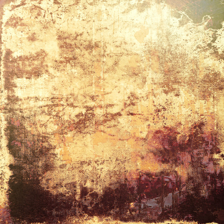 oldfield: Antique vintage background. With different color patterns: yellow (beige); brown; purple (violet); gray Stock Photo