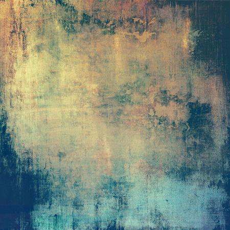 burnt edges: Old, grunge background or ancient texture. With different color patterns: yellow (beige); brown; green; cyan
