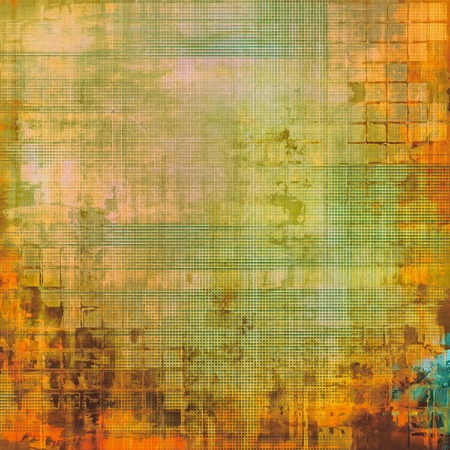 oldfield: Old background with delicate abstract texture. With different color patterns: yellow (beige); brown; red (orange); green Stock Photo